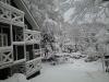雪の日のペンション