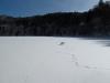 大尻沼全面結氷